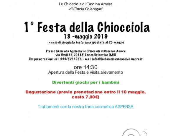 Festa della Chiocciola – RINVIATA A SABATO 25 MAGGIO!!!