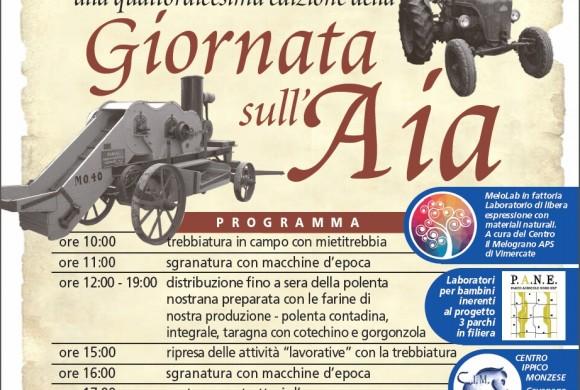Domenica 29 settembre – GIORNATA SULL'AIA