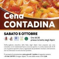 Sabato 05 ottobre – CENA CONTADINA con i prodotti Treparchinfiliera